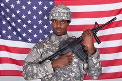 Ritratto del soldato americano fotografia stock libera da diritti