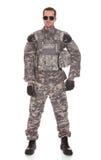 Ritratto del soldato With Rifle immagine stock libera da diritti