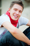 Ritratto del tirante di smiley Fotografie Stock Libere da Diritti
