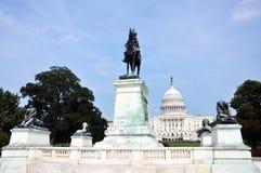 Ritratto del Ulysses S Grant Memorial davanti al Campidoglio, Washington DC Immagine Stock