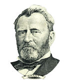 Ritratto del Ulysses S Ritaglio del ritratto di Grant (percorso di ritaglio) Immagini Stock