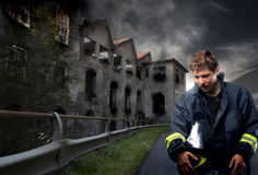 Ritratto del vigile del fuoco Immagini Stock