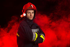 Ritratto del vigile del fuoco Fotografia Stock Libera da Diritti