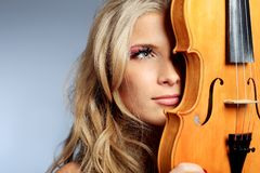 Ritratto del violino Fotografia Stock