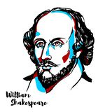 Ritratto del William Shakespeare royalty illustrazione gratis