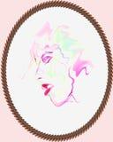 Ritratto dell'acquerello Immagine Stock Libera da Diritti