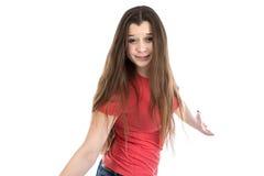 Ritratto dell'adolescente confuso Fotografia Stock