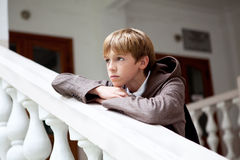 Ritratto dell'adolescente triste esterno Fotografia Stock Libera da Diritti