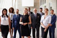 Ritratto dell'affare multiculturale Team In Office Fotografie Stock Libere da Diritti