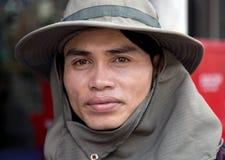 Ritratto dell'agricoltore tradizionale asiatico Fotografia Stock