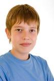 Ritratto dell'allievo in camicia blu Fotografia Stock