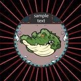 Ritratto dell'alligatore in un cerchio Fotografie Stock
