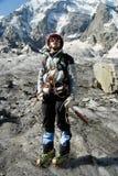 Ritratto dell'alpinista Fotografia Stock