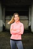 Ritratto dell'atleta femminile di forma fisica Fotografia Stock Libera da Diritti