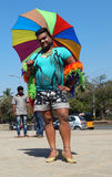 Ritratto dell'attivista di LGBT con la richiesta di uguaglianza durante lo Swabhimana strano Yatra Immagini Stock Libere da Diritti