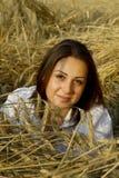 Ritratto dell'giovani donne su un campo Fotografia Stock