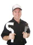 Ritratto dell'idraulico immagini stock libere da diritti