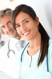 Ritratto dell'infermiera sorridente Fotografia Stock Libera da Diritti