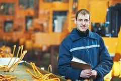Ritratto dell'ingegnere industriale con esperienza fotografie stock libere da diritti