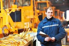 Ritratto dell'ingegnere industriale con esperienza fotografia stock