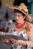 Ritratto dell'insegnante. Supervisore delle cerimonie Fotografia Stock
