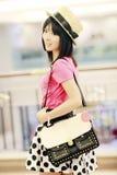 Ritratto dell'interno della ragazza asiatica Fotografia Stock