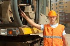 Ritratto dell'operatore del trattore Fotografia Stock Libera da Diritti