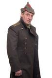 Ritratto dell'ufficiale militare russo Immagine Stock Libera da Diritti
