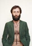 Ritratto dell'uomo barbuto Fotografia Stock