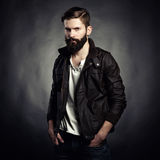 Ritratto dell'uomo bello con la barba Immagine Stock Libera da Diritti
