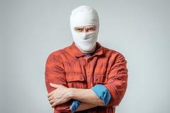 Ritratto dell'uomo bendato su immagini stock libere da diritti