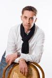 Ritratto dell'uomo caucasico bello Fotografia Stock Libera da Diritti