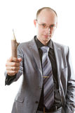 Ritratto dell'uomo con la matita Fotografie Stock