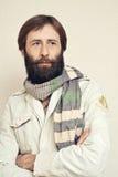 Ritratto dell'uomo con una grande barba ed i baffi Fotografia Stock