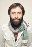 Ritratto dell'uomo con una grande barba ed i baffi Fotografia Stock Libera da Diritti