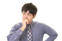 Ritratto dell'uomo d'affari che sembra difficile Fotografie Stock