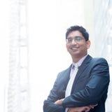 Ritratto dell'uomo d'affari indiano sorridente Immagine Stock Libera da Diritti