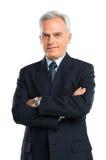 Ritratto dell'uomo d'affari senior With Hands Folded Fotografie Stock Libere da Diritti