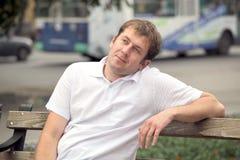 Ritratto dell'uomo della città Fotografie Stock