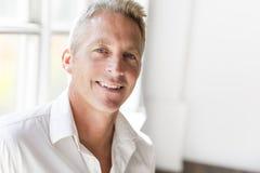 Ritratto dell'uomo di 40 anni attraente Immagine Stock Libera da Diritti