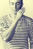 Ritratto dell'uomo di pensiero Fotografie Stock Libere da Diritti