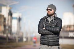 Ritratto dell'uomo esterno Fotografie Stock