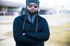 Ritratto dell'uomo esterno Fotografia Stock Libera da Diritti
