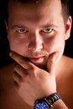 Ritratto dell'uomo. Fine in su. Immagine Stock Libera da Diritti