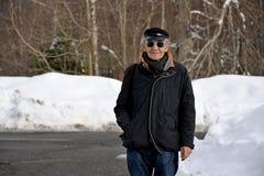 Ritratto dell'uomo il giorno di inverno soleggiato Fotografia Stock Libera da Diritti