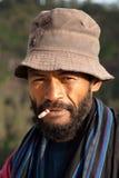 Ritratto dell'uomo indonesiano feroce Fotografie Stock