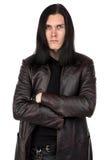 Ritratto dell'uomo informale con capelli lunghi Fotografia Stock Libera da Diritti
