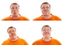 Ritratto dell'uomo, raccolta delle espressioni Immagine Stock Libera da Diritti