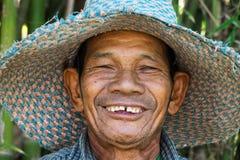 Ritratto dell'uomo senior asiatico amichevole Immagine Stock