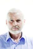 Ritratto dell'uomo senior imbronciato Immagini Stock Libere da Diritti